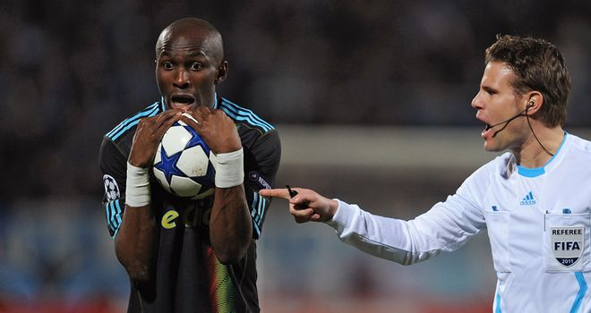 Stephane Mbia: Still 10 days away from making a return to action