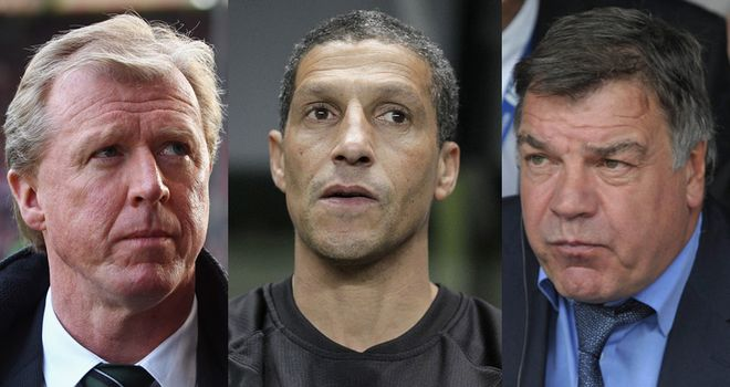 Steve McClaren (left) Chris Hughton and Sam Allardyce (right) are all contenders for the West Ham job