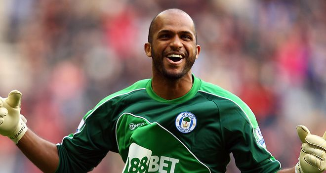 Al Habsi: Joined Wigan permanently from relegation rivals Bolton in the summer