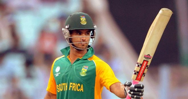 Duminy fell one run short of his century