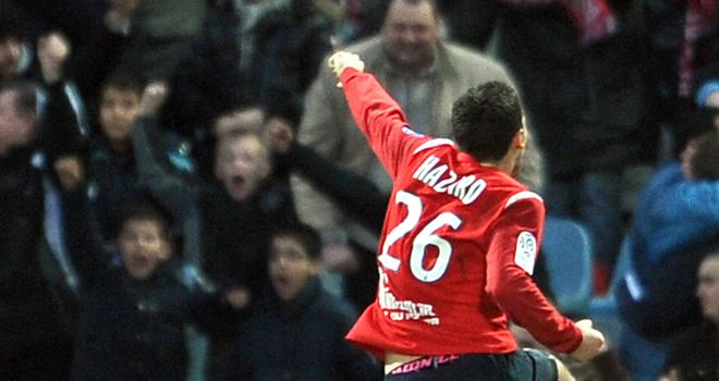 Hazard: Scored winner at Nancy to move Lille four points clear at top of Ligue 1