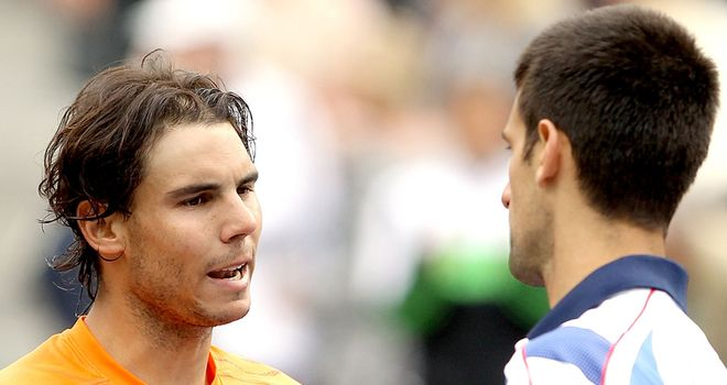 Dominant: Nadal and Djokovic (pictured) have, along with Federer, been the stars of recent Slams