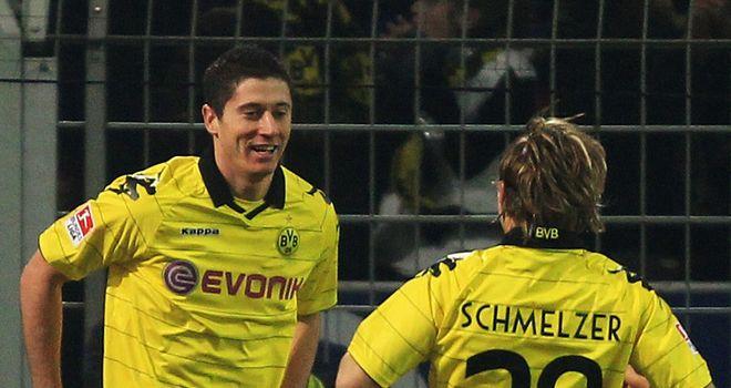 Lewandowski: Scored a brace in Borussia Dortmund's 4-0 mauling of FC Augsburg