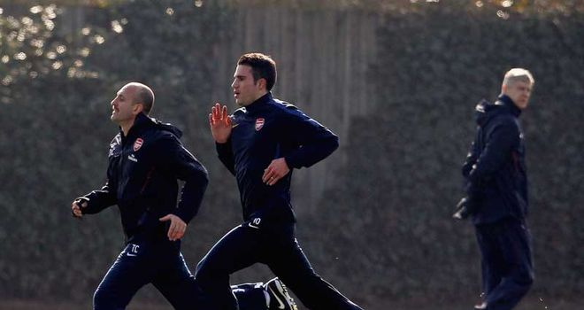 Van Persie: In training