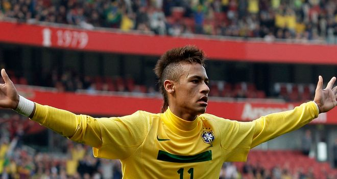Neymar: Scored twice against Scotland