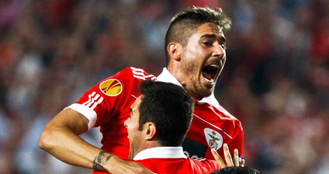 Jardel: The Benfica striker gave the Portuguese an early lead