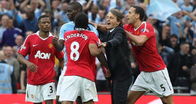Balotelli wound up United at the end of City's FA Cup semi-final win at Wembley