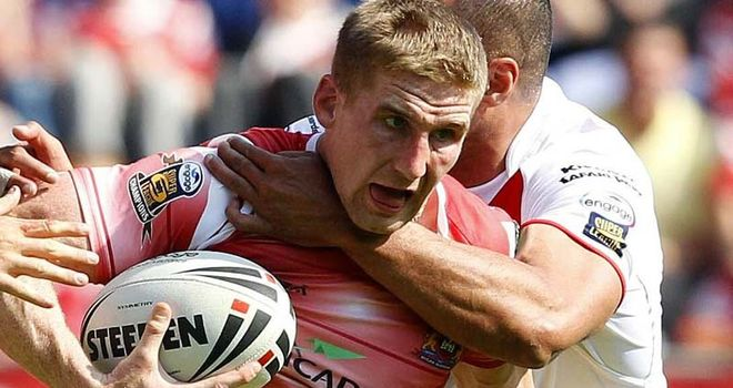 Sam Tomkins: Chipped in with two tries