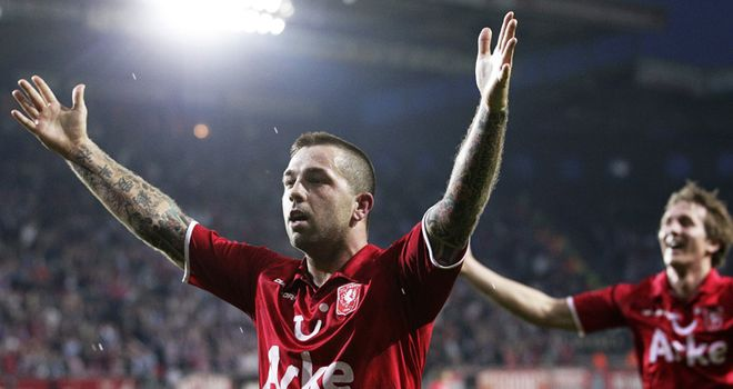 Janssen: Netted from spot in league leaders Twente's win over Willem II