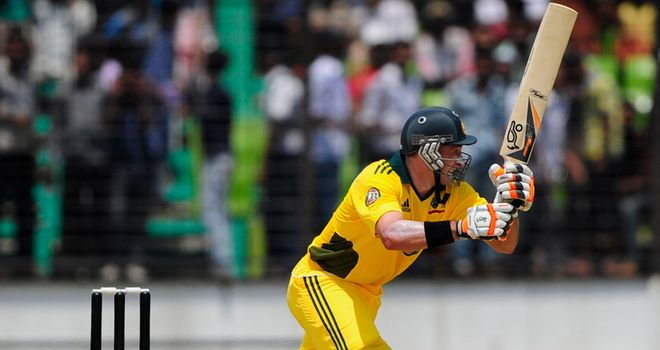 Hussey: third ODI century featured nine fours and two sixes