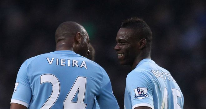 Balotelli: Insists he is not stupid and does listen to the advice of City team-mate Vieira