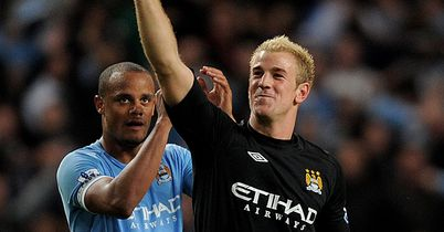 Kompany and Hart: Named in Prem Team of the Season