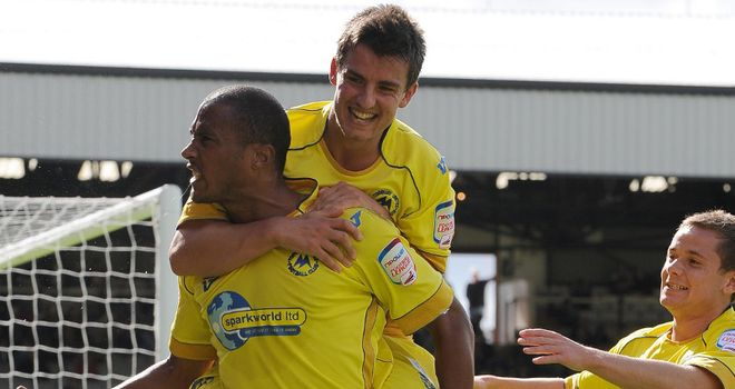 Zebroski (l): Set to leave Plainmoor