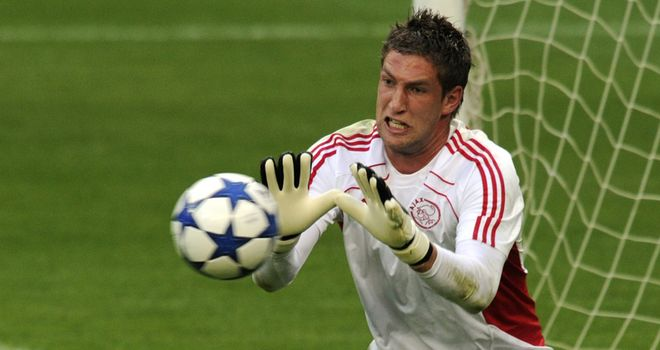 Stekelenburg: Set to join Roma on a four-year contract after a deal was agreed with Ajax