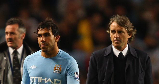 Mancini eager to ensure Tevez row doesn't derail title hopes