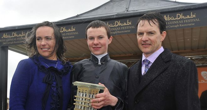 The O'Brien family celebrate a memorable victory