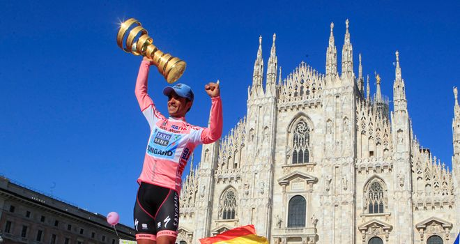 Contador: The Spaniard dominated the Giro d'Italia as he claimed his sixth Grand Tour title