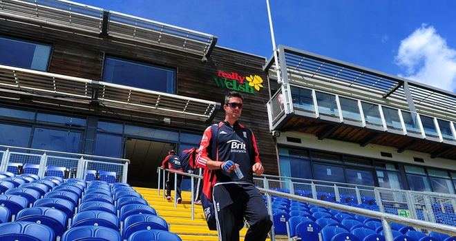 Recovered: Pietersen prepares for England's first Test of the summer against Sri Lanka in Cardiff