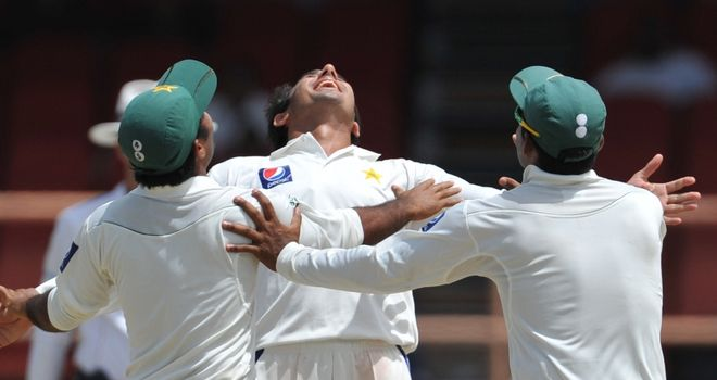 Ajmal: claimed three of the five wickets Pakistan needed on final day