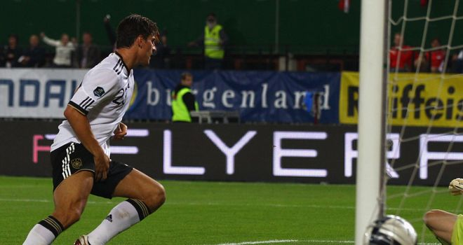 Mario Gomez: The Germany striker scored the first goal for them in their 3-1win over Turkey