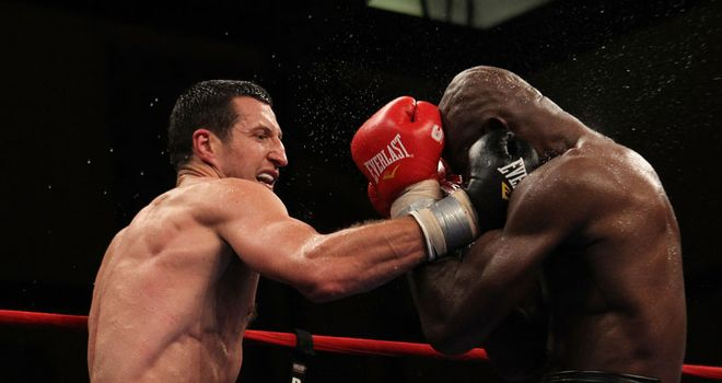 Froch: Likened hitting Johnson to sparring an oak tree