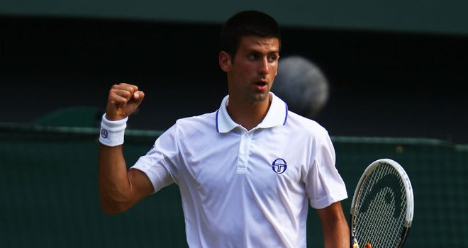 Djokovic: will face Michael Llodra in the last 16