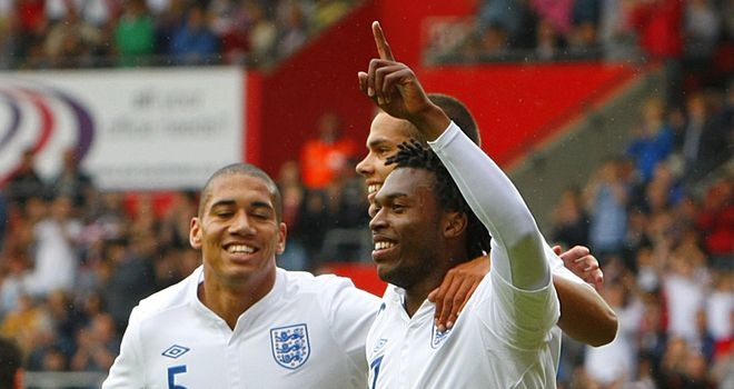 Sturridge: Salutes goal in warm-up against Norway