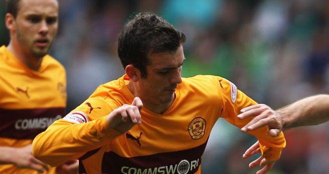 Gunning: Looks set to join Dundee United after Motherwell were unable to compete with their offer