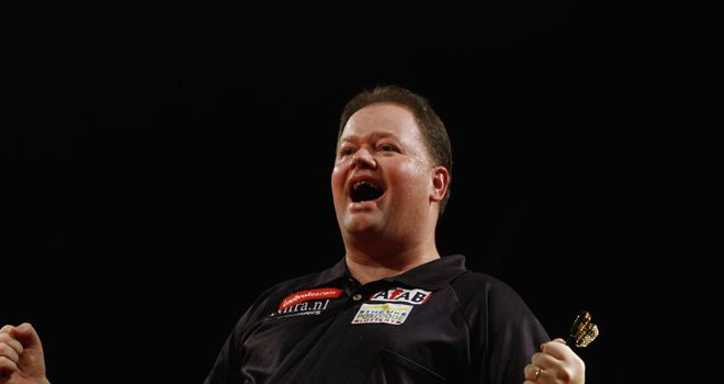 Van Barneveld: celebrates his epic 2007 triumph