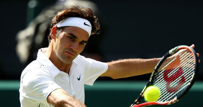 Slice of fortune: Federer's backhand will be a critical shot at Wimbledon