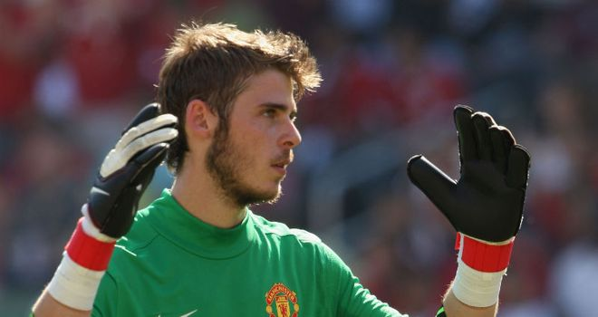 De Gea: The young goalkeeper has been signed by Man Utd to replace the retired Edwin van der Sar