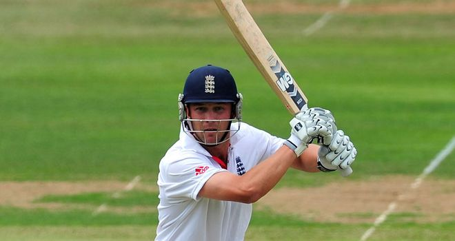 Trott: stroked an unbeaten 58 on day one of the first Test against India, at Lord's