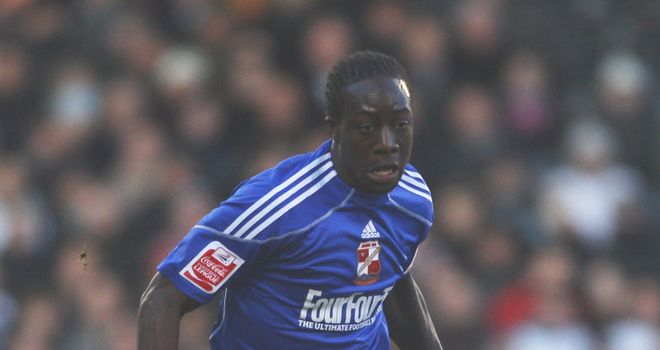 Amankwaah: Has joined Burton until January following his departure from Swindon