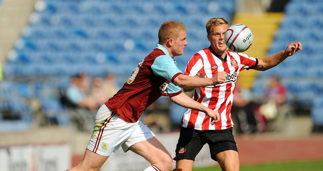 Brian Easton (left): Former Burnley defender heading north to join Dundee
