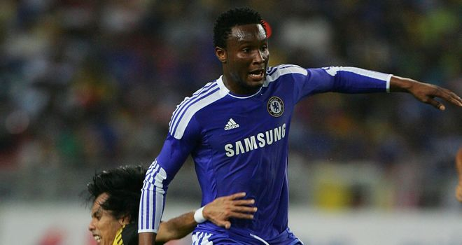 Mikel: The midfielder played in Chelsea's draw at Stoke on Sunday