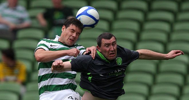 O'Dea: In pre-season action for Celtic