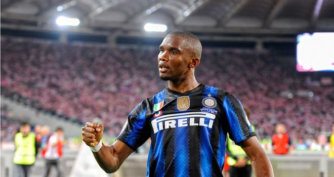 Eto'o: Inter striker confirms talks with Anzhi are ongoing but is not ruling out a move to England