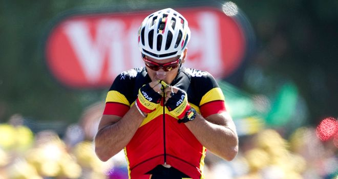 Gilbert: Marked his first race in Belgian champions colours with a convincing stage win