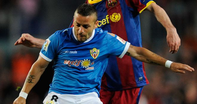 Crusat: Has joined Wigan from Almeria and is looking forward to playing in the Premier League