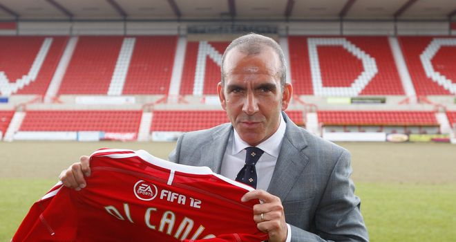 Di Canio: Takes charge of Swindon Town for the first time in a competative match