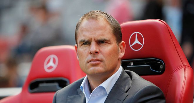 Frank De Boer: Ajax coach will have a newface in his squad