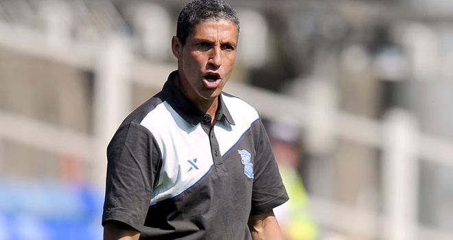 Hughton: Was unhappy with Birmingham's first-half performance