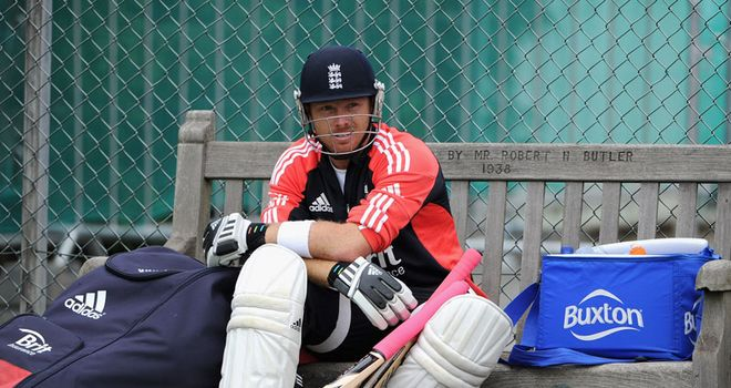 Sitting pretty: Bell contemplates adding to his 15 Test tons ahead of the third Test