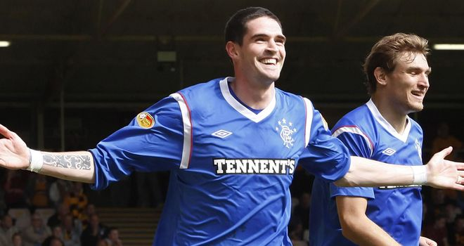 Lafferty: Scored the only goal as Rangers made it nine wins from 10 games in the SPL