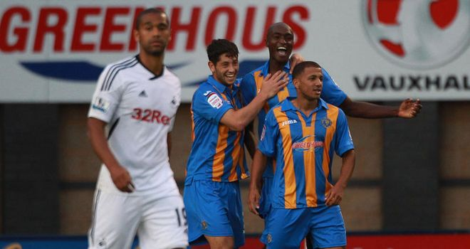 Shrewsbury enjoyed a famous victory over Swansea