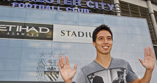 Nasri: Believes he has a better chance of winning titles at Eastlands