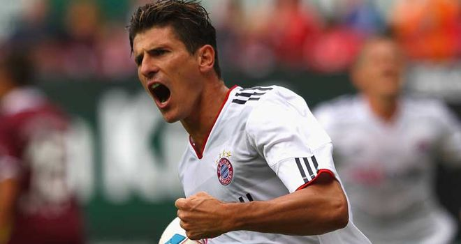 Gomez: Followed up a hat-trick before the international break with four goals for Bayern against Freiburg