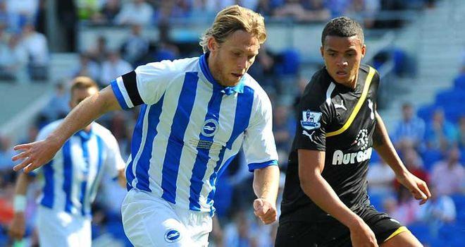 Mackail-Smith: Expected to recover from a back injury in time for Brighton's game at Bristol City