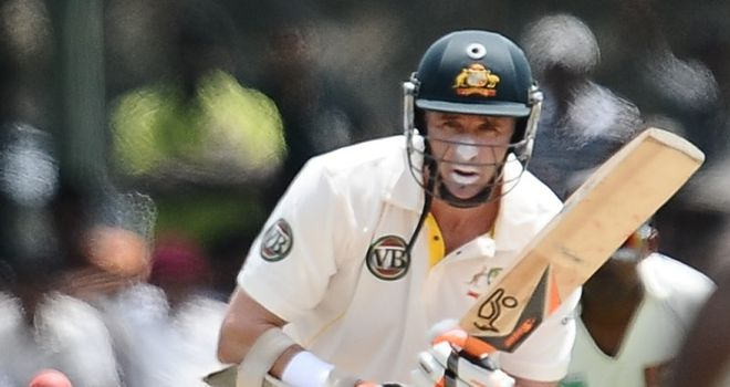 Hussey: upped tempo after reaching half-century