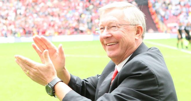 Ferguson: Is hoping to keep United on top of the Premier League pile